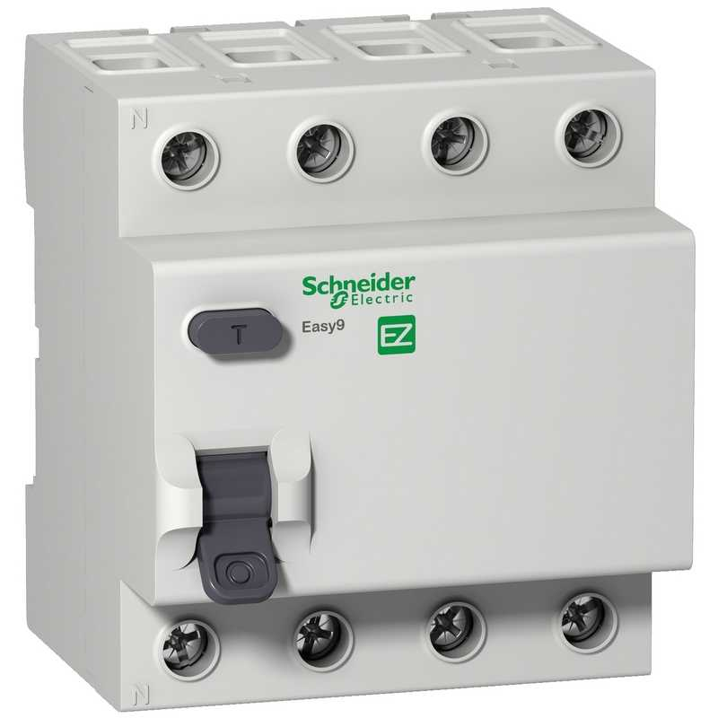 Дифф. выкл. нагрузки EASY 9 4П 63А/30мА АС Schneider Electric (УЗО)